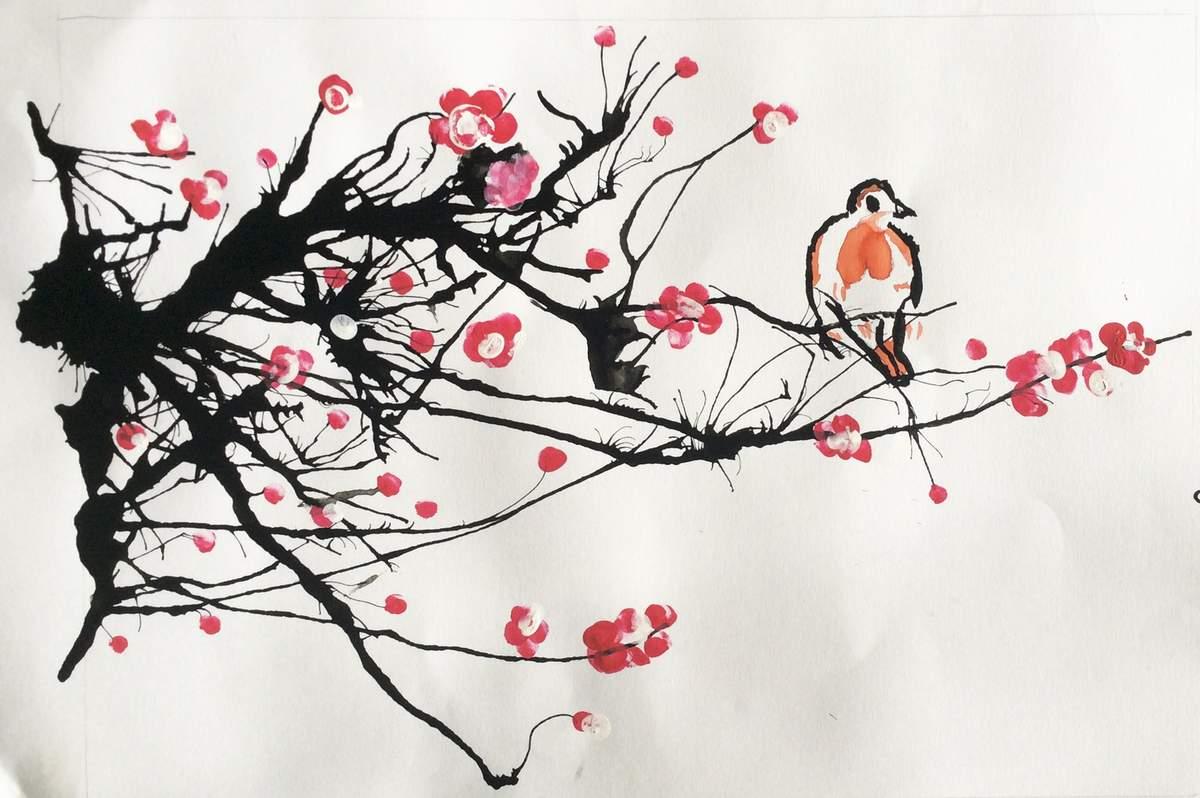 Combin cor e du sud et japon agence voyages lyon - Dessin arbre chinois ...